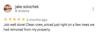 Google Review from Jake Solochek